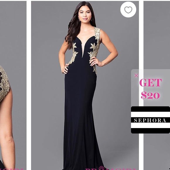 Dresses Gorgeous Black And Gold Long Evening Gown Poshmark